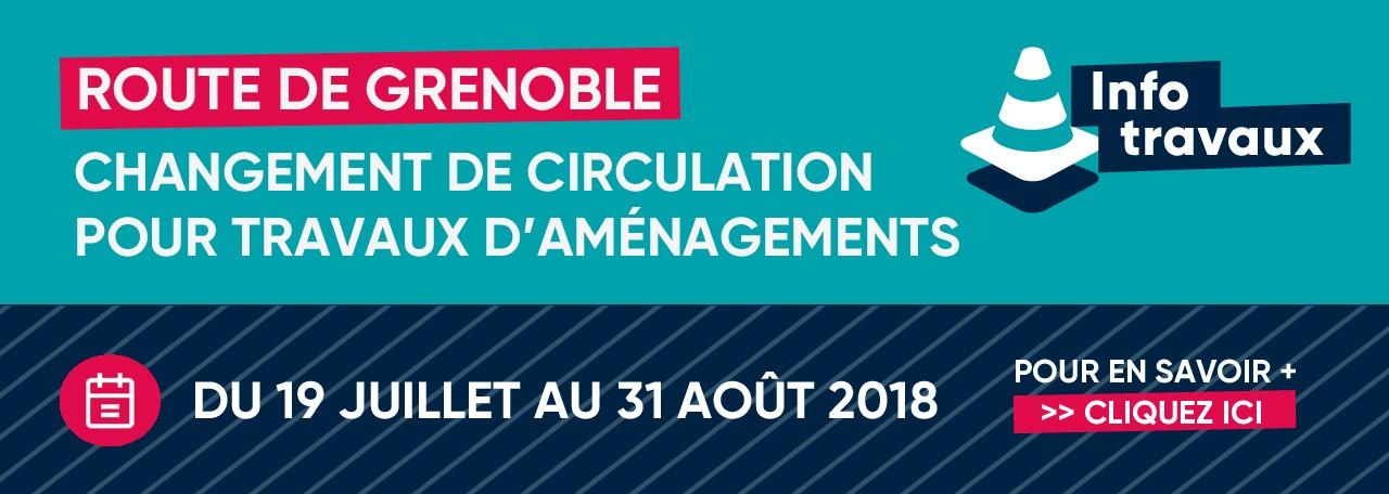 Info travaux Route de Grenoble