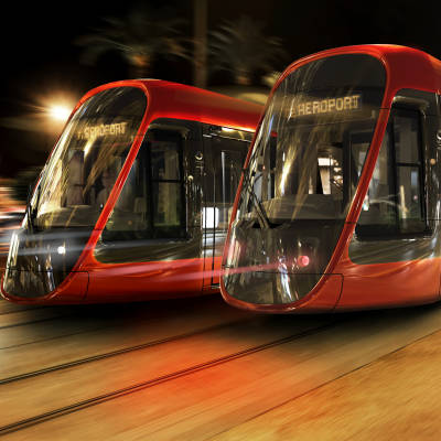 Tramway Nice integration nuit