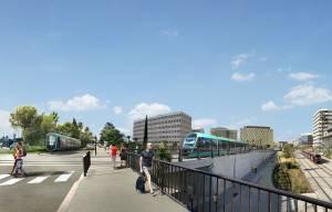 Quartier Arénas ligne 4 de tramway