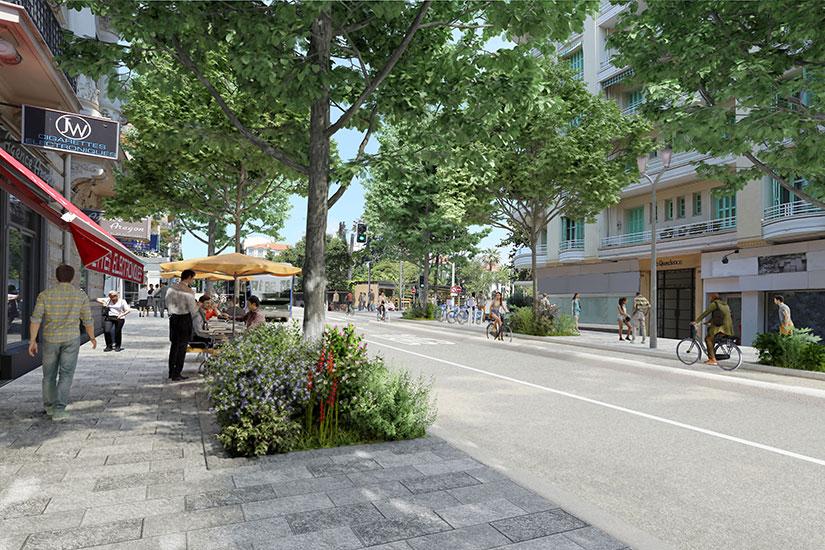 Photomontage de l'avenue Gambetta